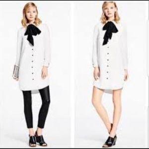 Kate Spade GrIFFIN White Velvet Shirt Dress NWT